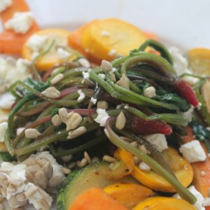 Warm Vegetable Salad with Beet Greens & Unplugged Parenting (The NYT is Wrong)