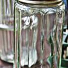 Vintage Glass Spice Jars