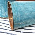 Vintage Blue Metal Sap Buckets