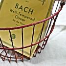 Vintage Red Metal Egg Basket