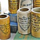 Vintage English Ginger Beer Pottery Pots