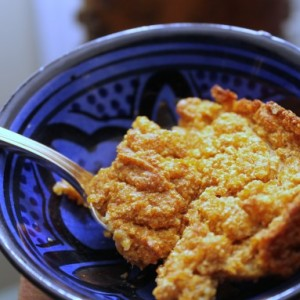 Maple Sweet Potato Spoon Bread & Breasts
