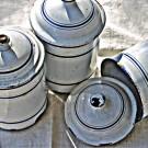 Trio of Antique French Enamel Pots