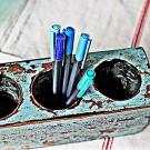 Antique Sugar Mold~Pencil Keeper~Spoon Holder