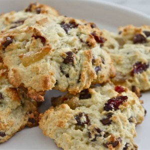 Ginger Dried Fruit Scones (Thanksgiving Breakfast)