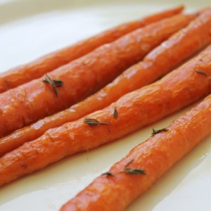 Whole Slow-Roasted Carrots with Thyme & Secret Shame