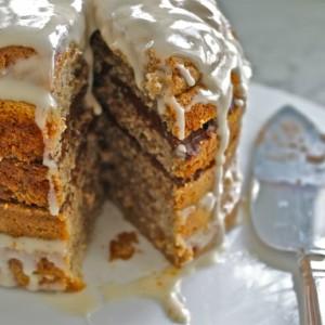 Funky Monkey Cake (Banana Cake with Chocolate and Vanilla Layers) & Cake for Breakfast