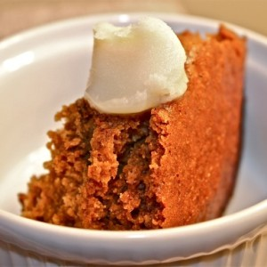 Italian Gingerbread Cake with Brandy Butter & Masterpiece Theatre