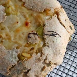 Vidalia Onion and Leek Tart with Whole Wheat Rosemary Crust & Parental Blame