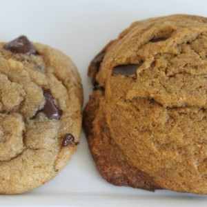 Crispy, Chewy Chocolate Chip Cookies & Molasses Chocolate Chip Cookies & A Tale of Two Cookies