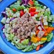 Italian Rainbow Chopped Salad with Lemon-Tarragon Dressing